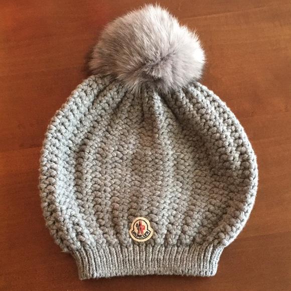 5464b3ec14b Moncler Fur Pom-Pom Knit Hat. M 5bd23fdfaa5719d31b699d16. Other Accessories  ...